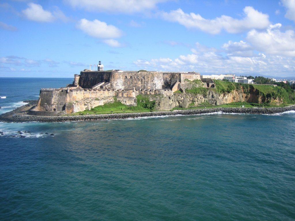 Aerial view of Old San Juan Fort