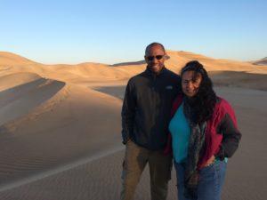 Tonya and Ian in Namibia