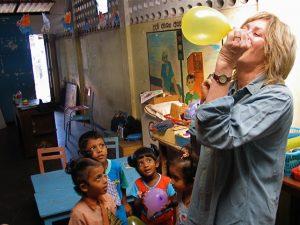 The author at a Sri Lankan preschool. Photo: Tim Leland