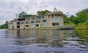 Luxury Amazon cruise ship Delfin III. Photo: Patti Morrow