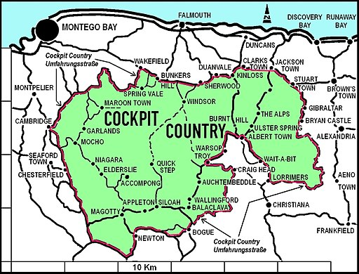 Map of Cockpit Country
