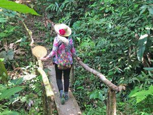 Author beginning her jungle trek. Photo: Patti Morrow