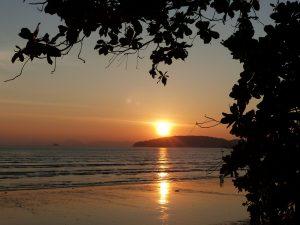 Sunset on Ao Nang beach, Krabi, Thailand