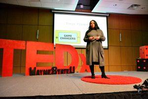 Tonya Fitzpatrick speaking at TEDxWayneState