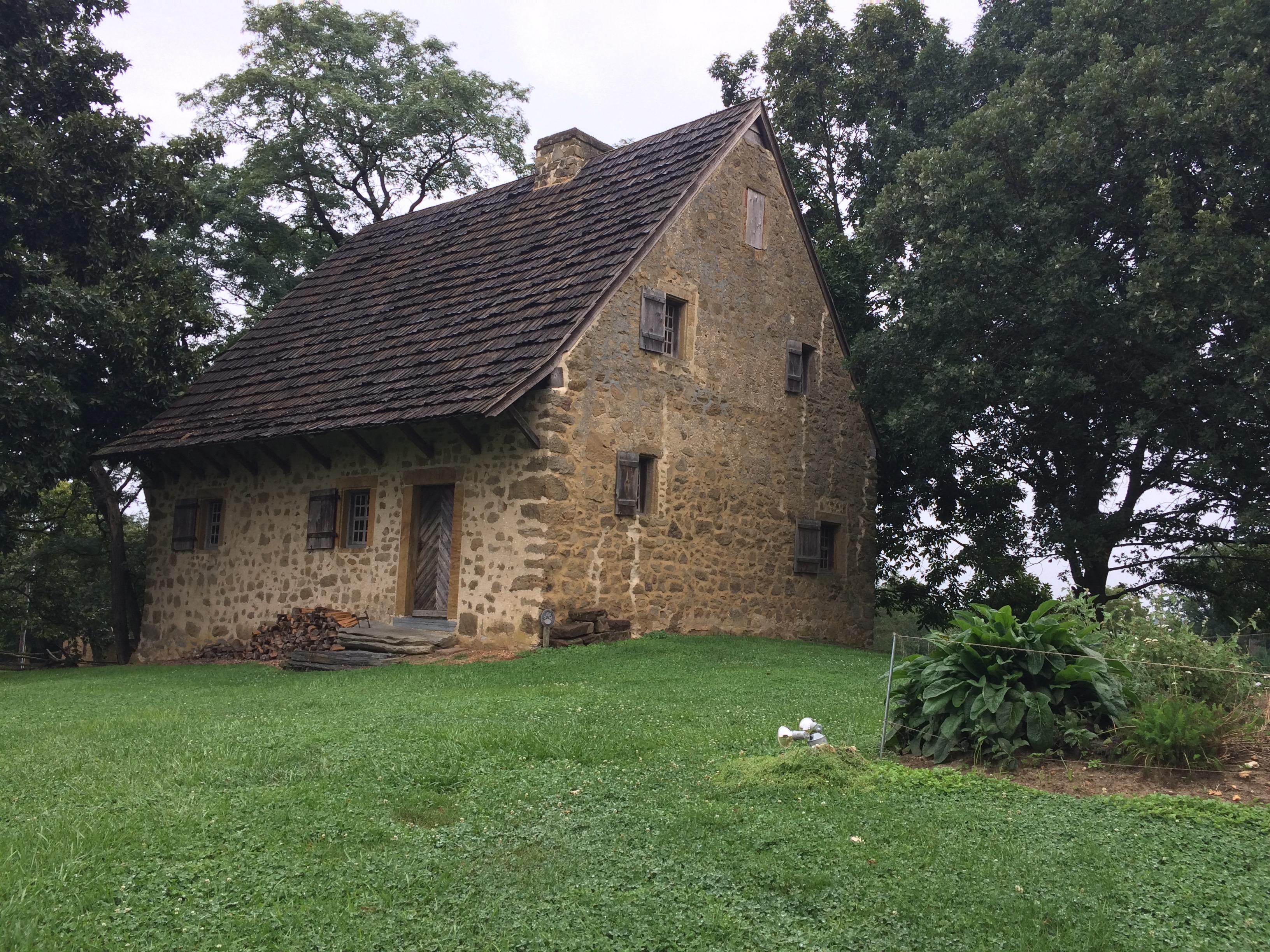 Exterior of Hans Herr House in Lancaster, Pennsylvania