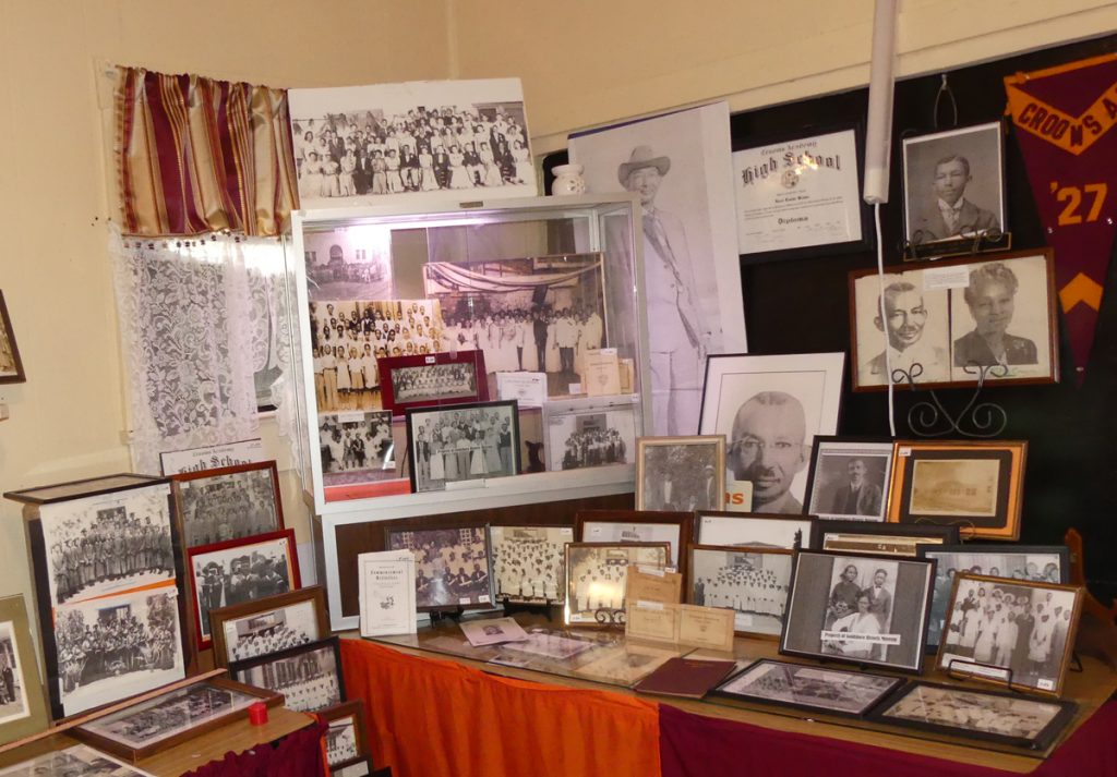 Croom Academy Museum exhibit of items for students in the 1920s. Photo: Kathleen Walls