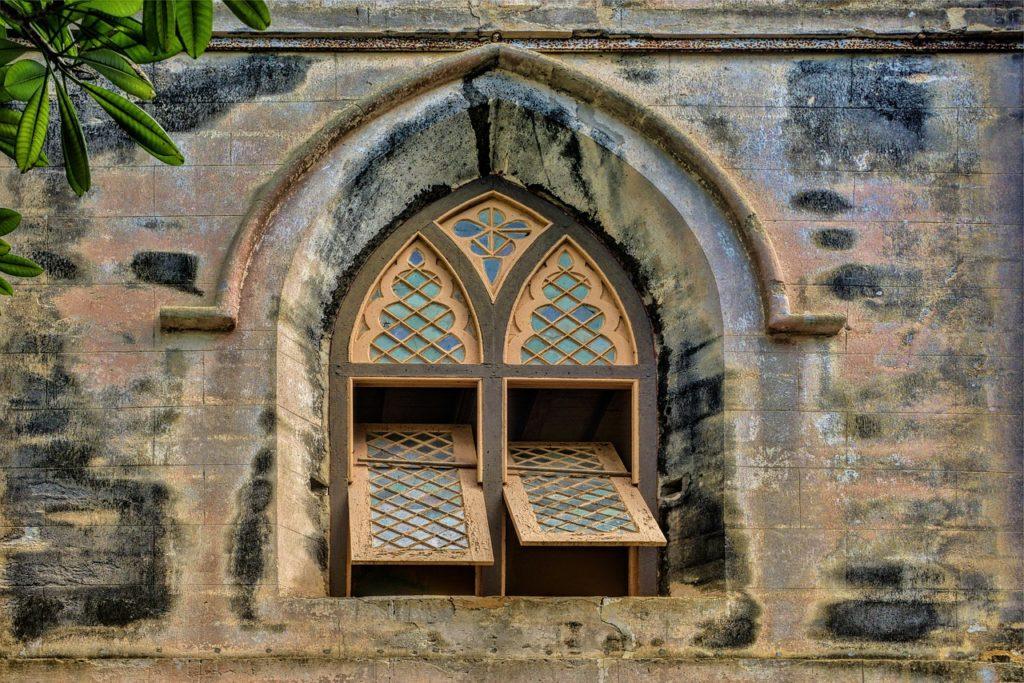 Window of Saint John's church in Barbados