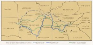 Trail of Tears map courtesy of the National Park Service (Wikimedia)