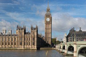 Big Ben clock in London.