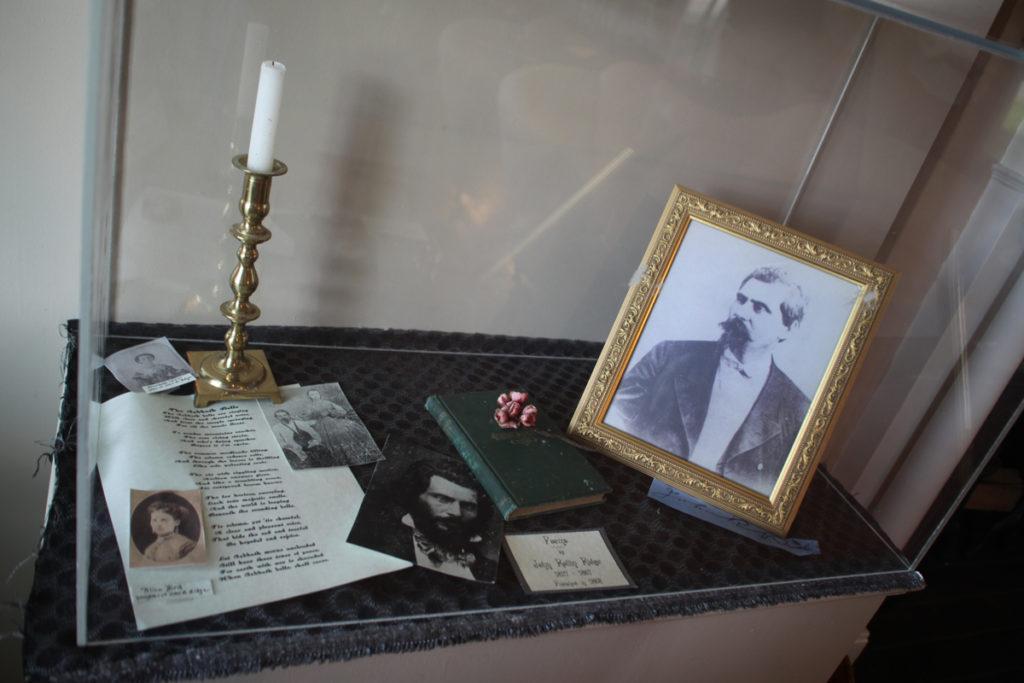 Picture and book of poems written by Major Ridge's grandson, John Rollin Ridge. Photo: Kathleen Walls