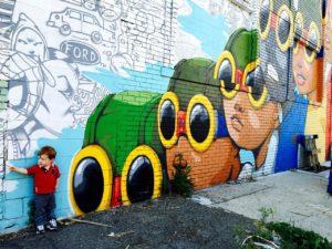 A taste of the street art in Detroit.