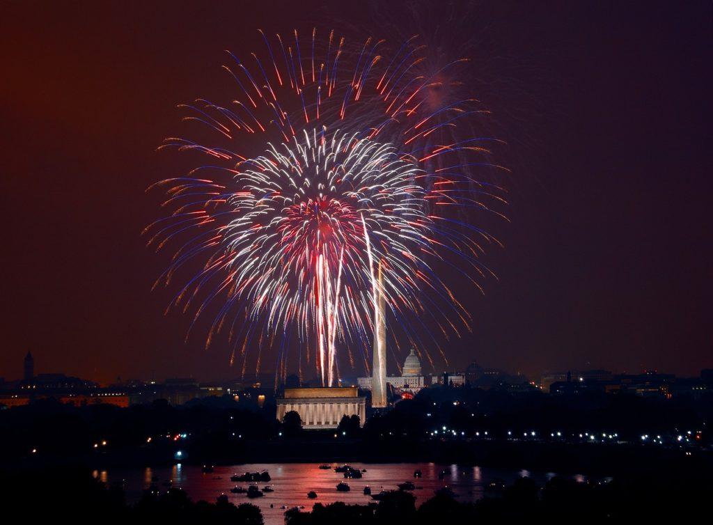 Fourth of July fireworks in Washington, DC