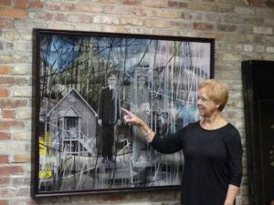 Sandy Landis shows painting at Art Center. Photo: Kathleen Walls