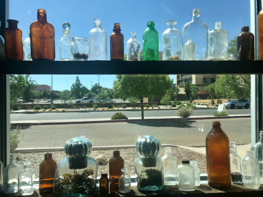 Window view from inside the Spur Line Supply Company. Photo: Melissa Curtin