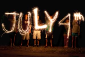 Sparkler art on July 4th