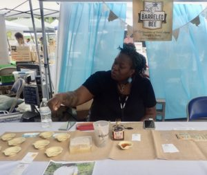 Honey Vendor at My People's Market. Photo: Becky Garrison