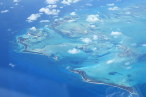 Aerial view of the Bahama Out Islands