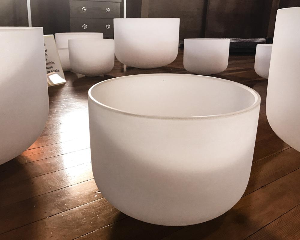 Glass bowls. Photo: Josh Fredman