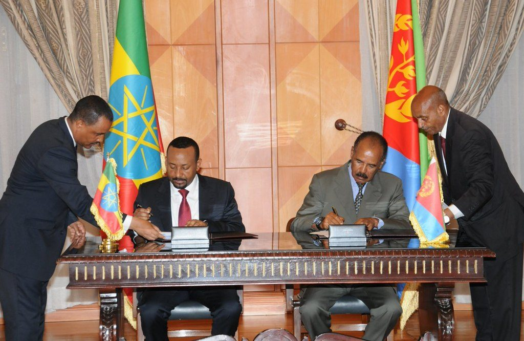 Signing of Joint Declaration of Peace and Friendship between Eritrea and Ethiopia. Photo: WikiCommons
