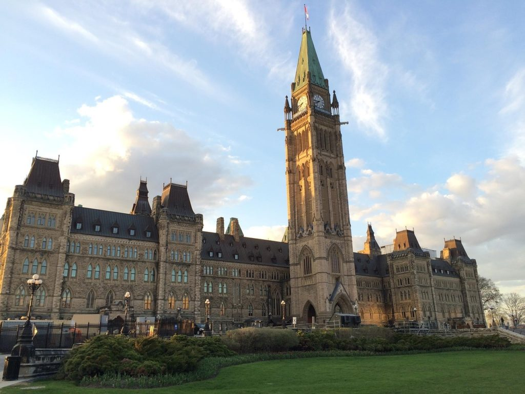 Parliament Building in the Canadian capital city of Ottawa.