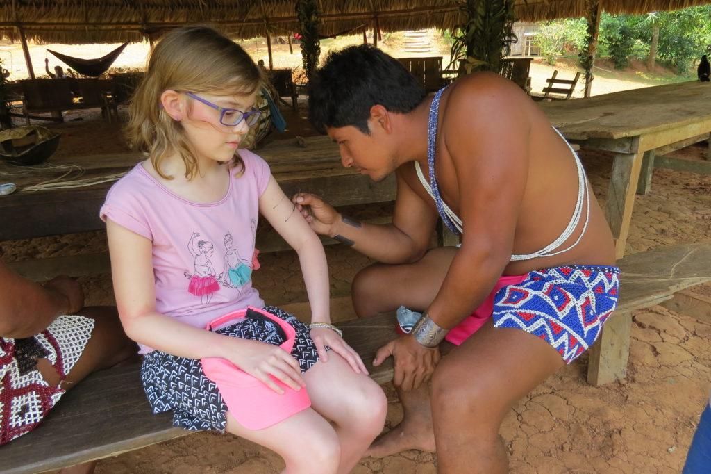 Embera painting. Photo by Chez