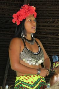 Traditional dress for Embera women. Photo by Chez