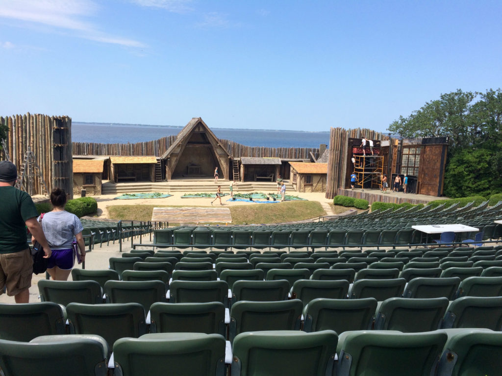 Theatre house and outdoor stage for The Lost Colony in the Outer Banks. Photo: Tonya Fitzpatrick