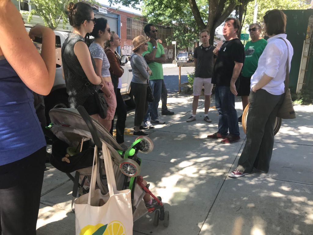 Walking tour of Greenpoint. Photo: Alexandra Fletcher