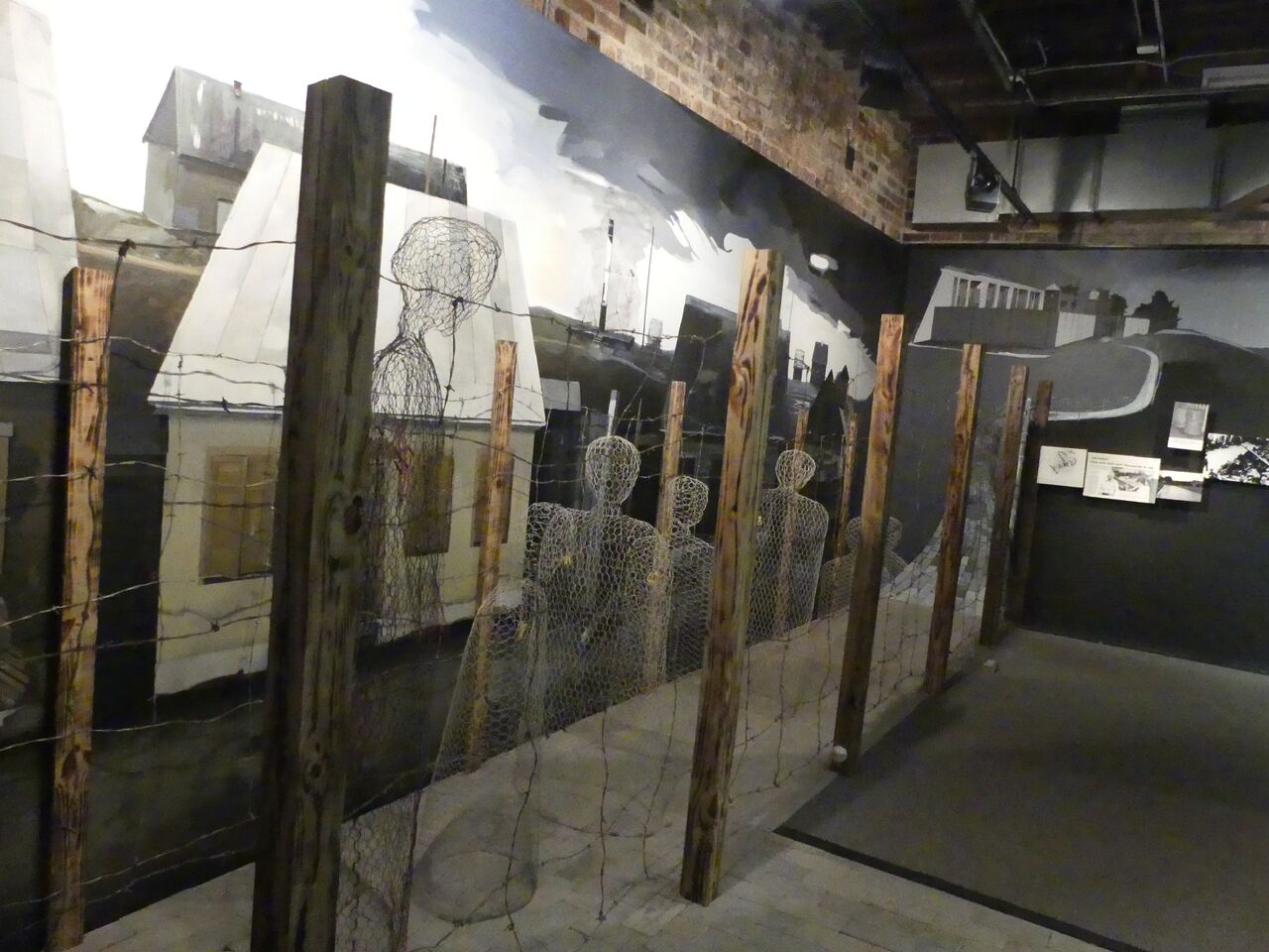 Concentration camp exhibit. Photo: Kathleen Walls