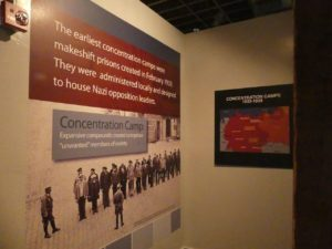 Posters about concentration camps. Photo by Kathleen Walls