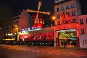 Paris's famous Moulin Rouge.