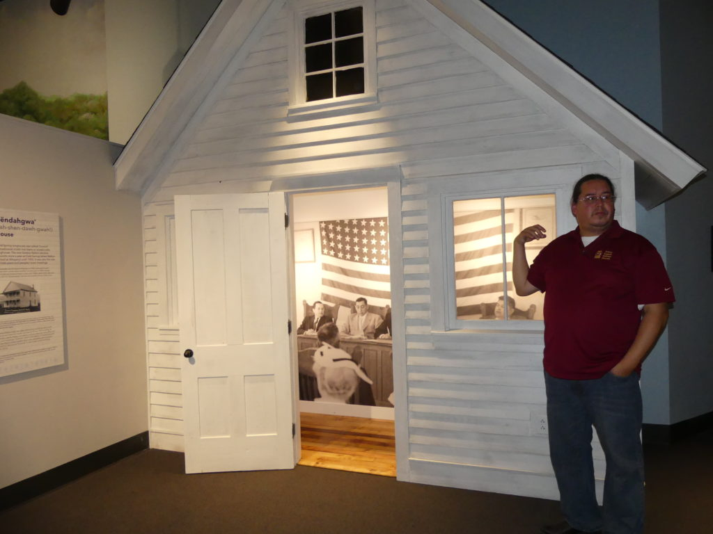 Dave in front of model of Council House. Photo: Kathleen Walls