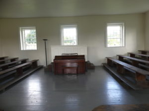 Inside Mennonite Meeting Hall. Kathleen Walls