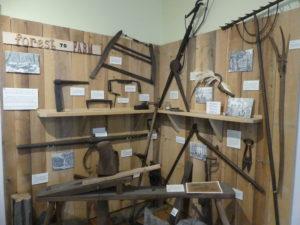 Tool display at Harmony Museum. Photo: Kathleen Walls