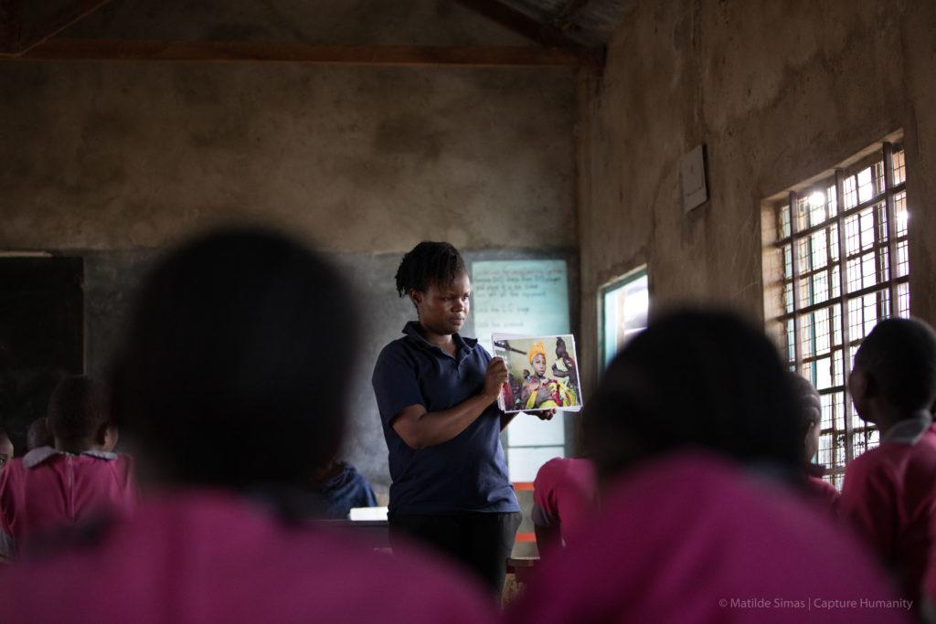 Human trafficking prevention class. Photo: Matilde Simas