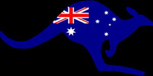 Australian flag on a kangaroo