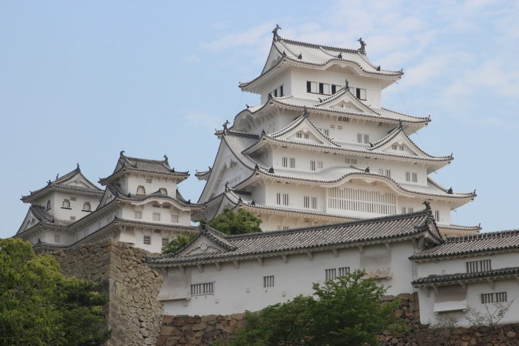 Image of the hilltop complex of the Himeji Castle in the city of Himeji in Japan's Hyōgo Prefecture.