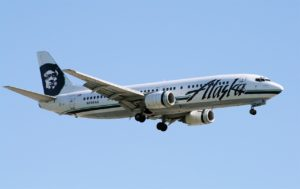 Alaska Airlines on approach