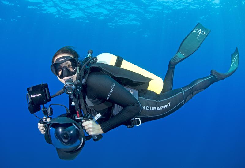 Andrea Marshall behind the camera in Mozambique. Photo courtesy of Marine Megafauna Foundation.
