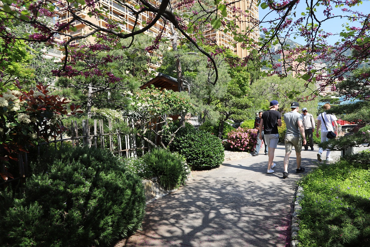 Garden park on Monaco
