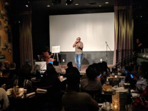 LOL (Love Out Loud) at Busboys and Poets Hyattsville. Photo: Daniel Baldwin