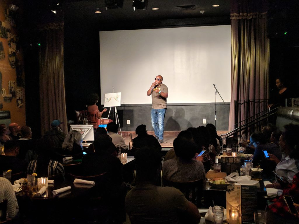 """""""Love Out Loud"""" at Busboys and Poets in Hyattsville, Maryland. Photo: Daniel Baldwin"""