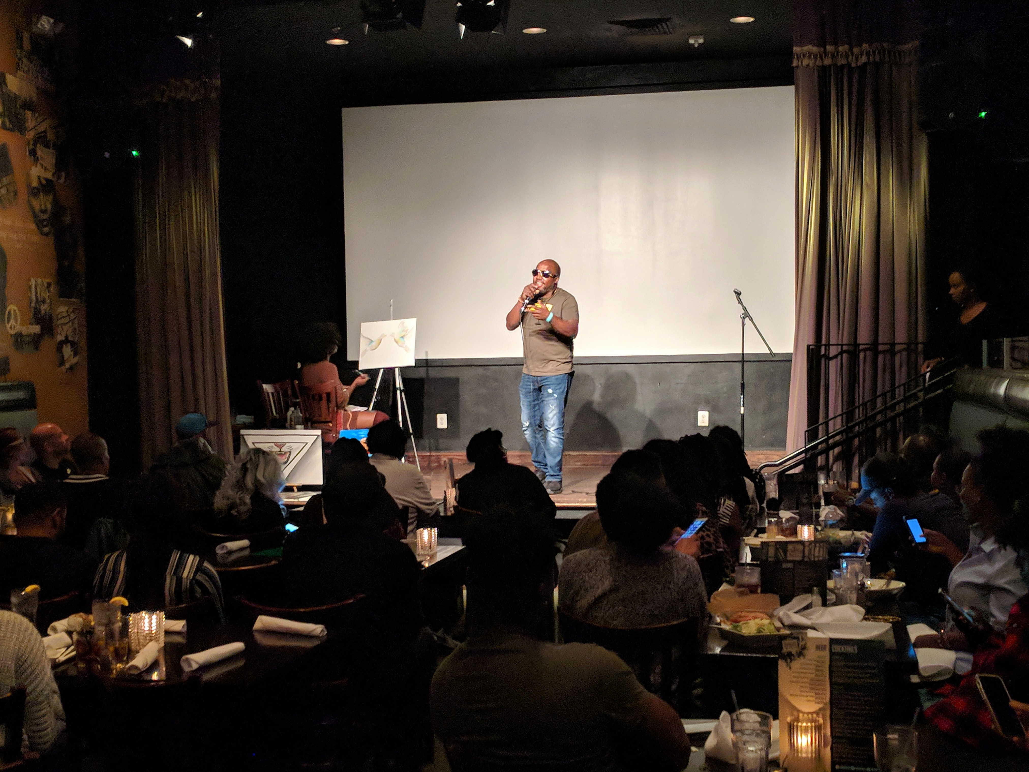 """""""Love Out Loud"""" at Busboys and Poets in Hyattsville, Maryland a Washington DC suburb. Photo: Daniel Baldwin"""
