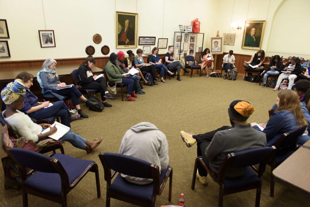 Split This Rock poetry workshop. Photo courtesy of Kristin Adair