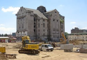 Construction site in Bucharest.