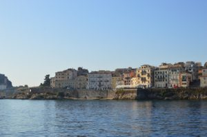 View of the Old Town of Corfu.