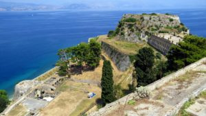 Old fortress on the island of Corfu.