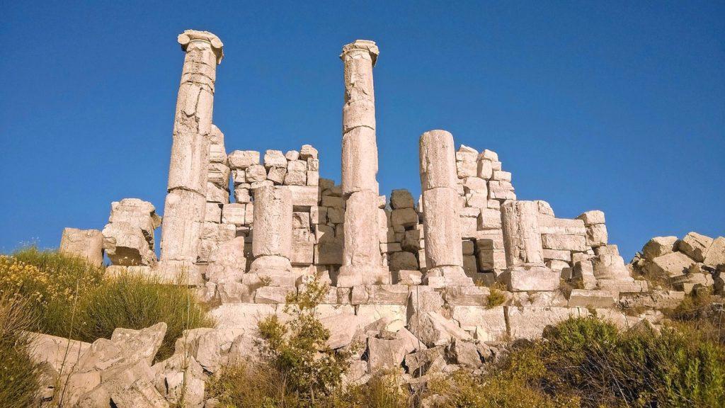 Roman architecture in Lebanon. A World Heritage Site.