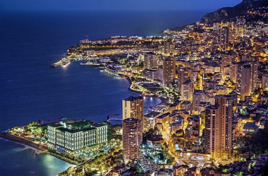 View of Monaco skyline