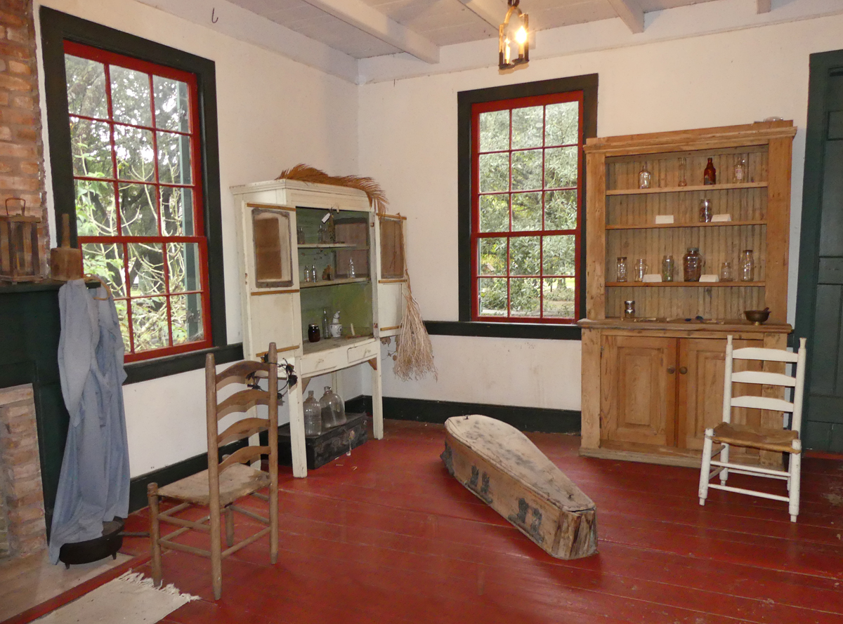 Inside an Acadian house in the Village. Photo: Kathleen Walls